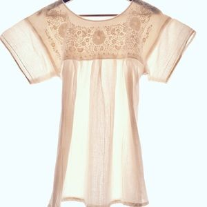 Traditional Embroidered Mexican blouse embroidery